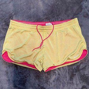 Nike Yellow/Pink Athletic Shorts